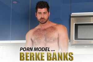 Fluffer: Porn Model Berke Banks